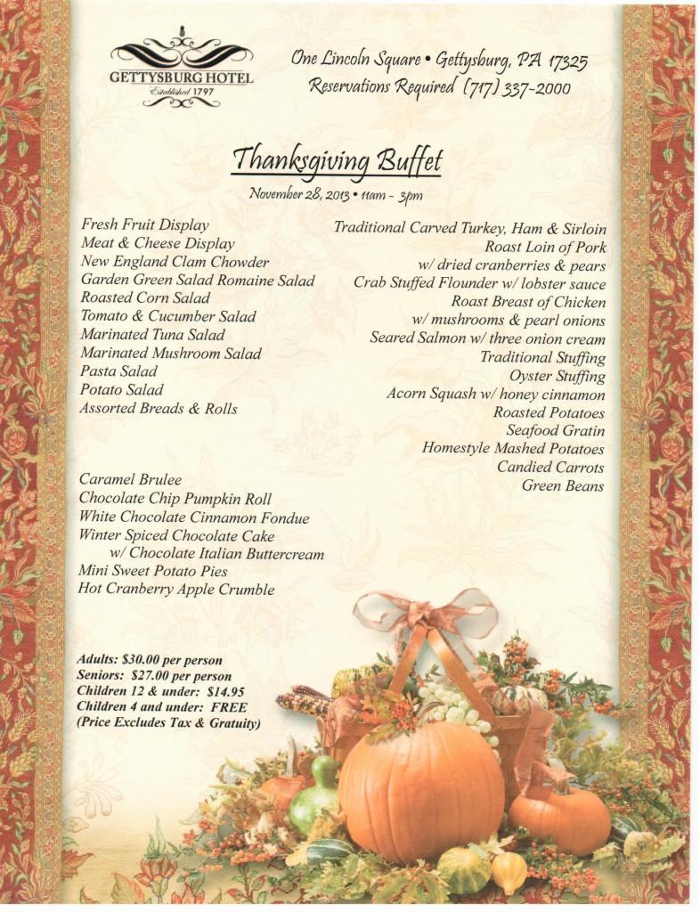 menu ideas thanksgiving buffet menu ideas