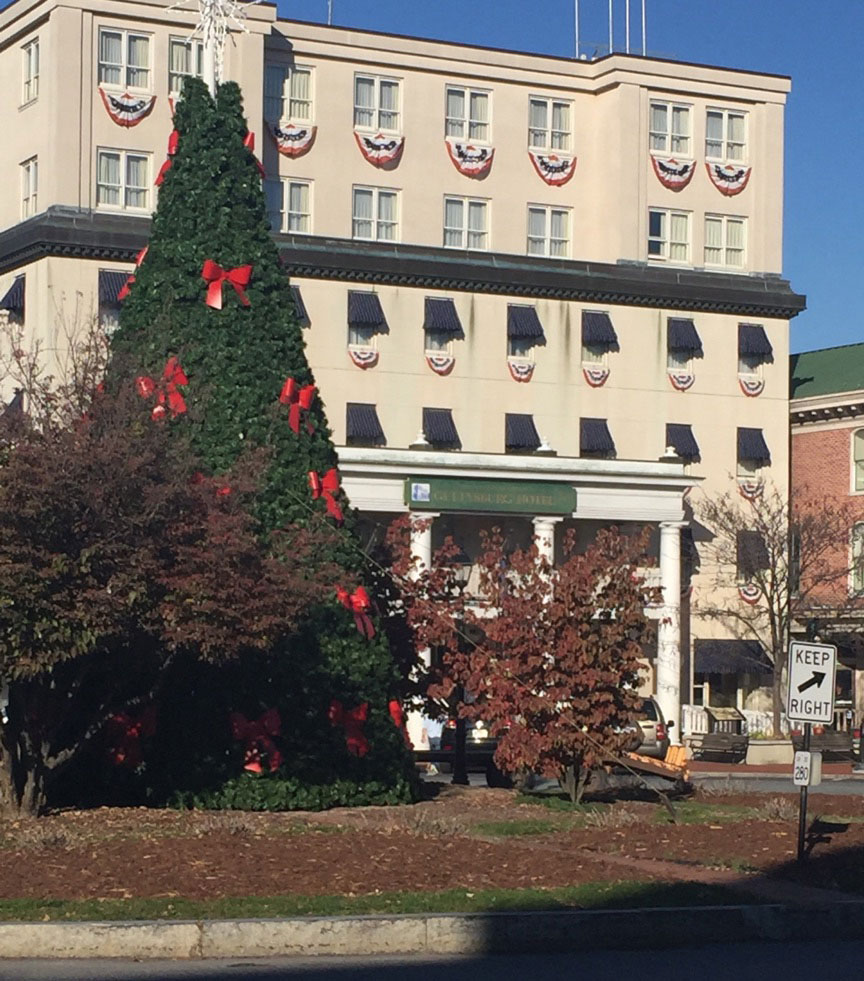 2016 Gettysburg Christmas Tree